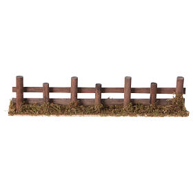 Nativity setting, fence with logs 33x4,5cm s4