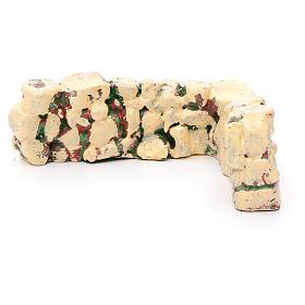 Mäuerchen Stein-ähnlich eckig, aus Harz s2