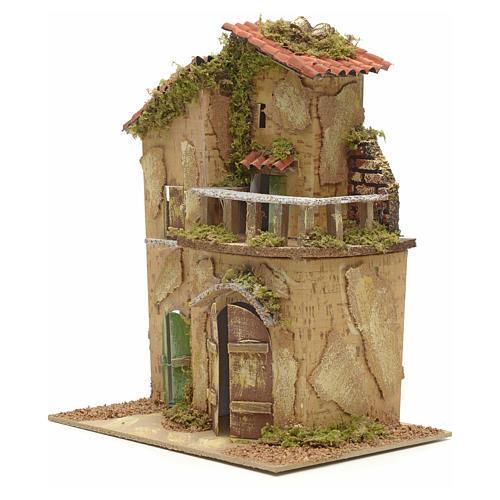 Farmhouse with balcony for nativities 21x16cm 3