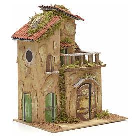 Farmhouse with balcony for nativities 21x16cm s2