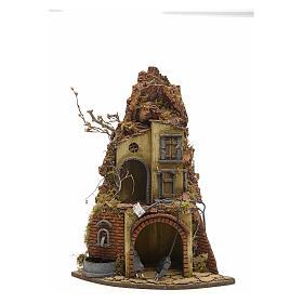 Borgo illuminato angolo e fontana presepe napoletano s4