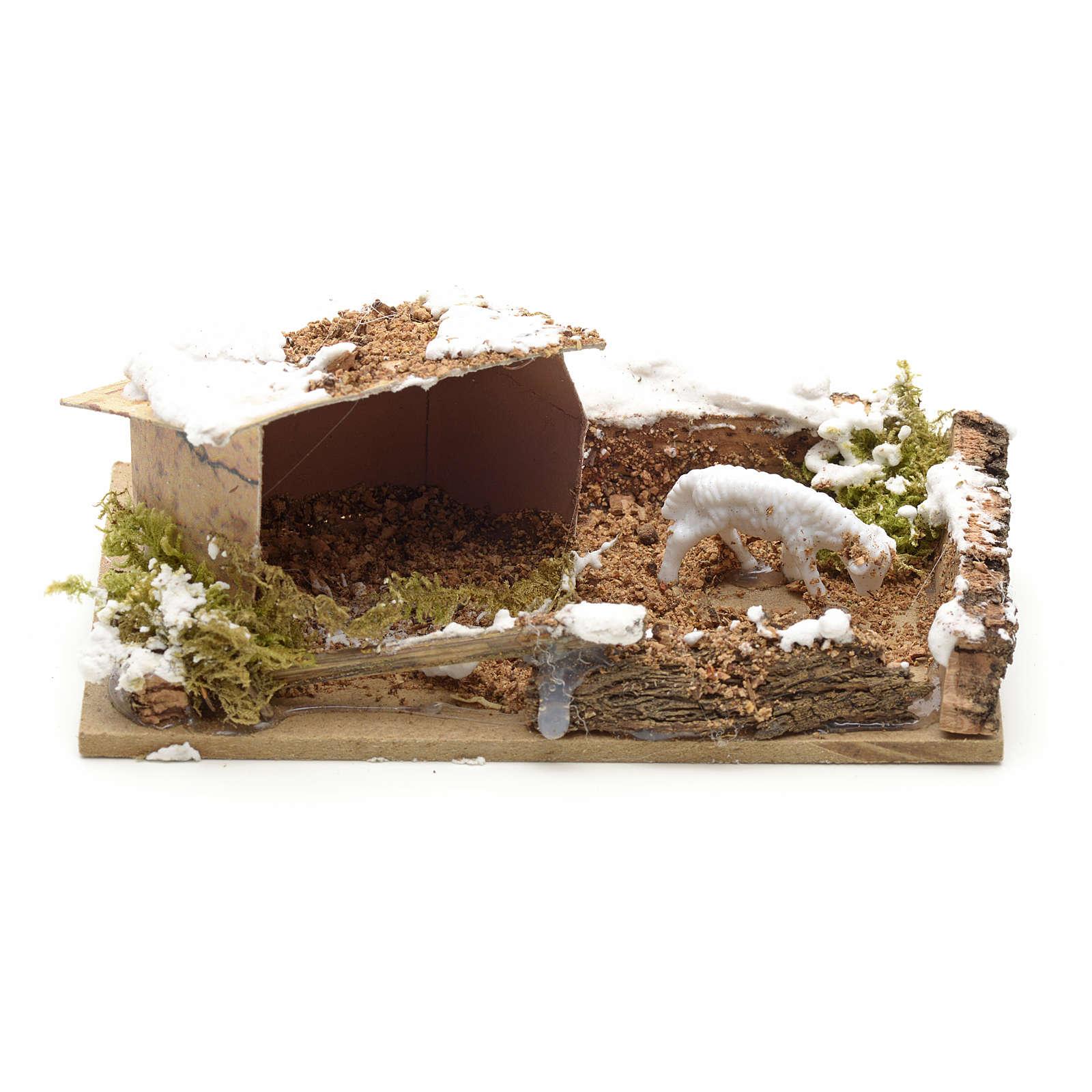 Pecorella in recinzione 10x6 4