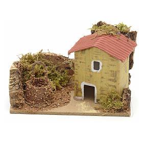 Décor crèche maison et puits 10x6 s1