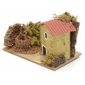 Décor crèche maison et puits 10x6 s2