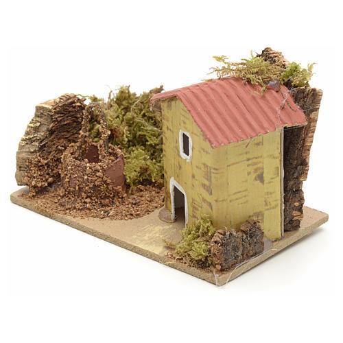 Décor crèche maison et puits 10x6 2