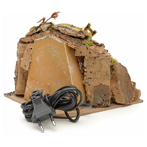 Nativity setting, wind mill with goat 13x22x14cm 3