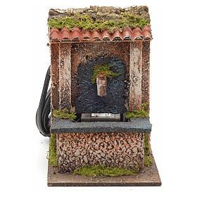Mini fontaine électrique pour crèche 15x10x15cm s1