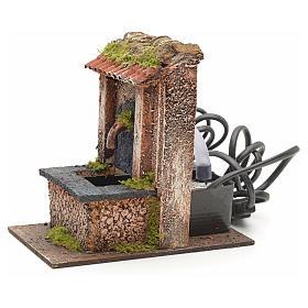 Mini fontaine électrique pour crèche 15x10x15cm s2