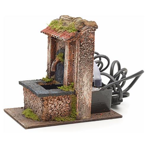 Mini fontaine électrique pour crèche 15x10x15cm 2