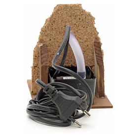 Fountain for nativities with wall on the back 13x10x15cm s3