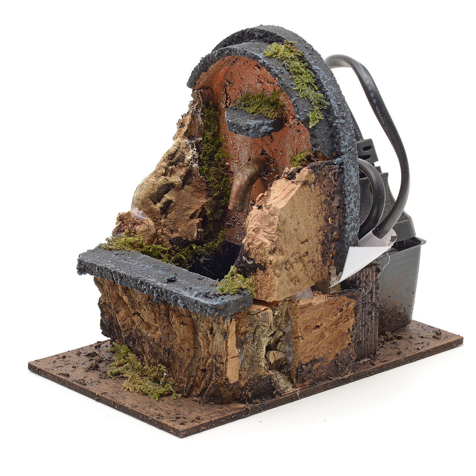 Electric nativity fountain measuring 15x10x12cm with arch 4