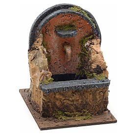 Electric nativity fountain measuring 15x10x12cm with arch s1