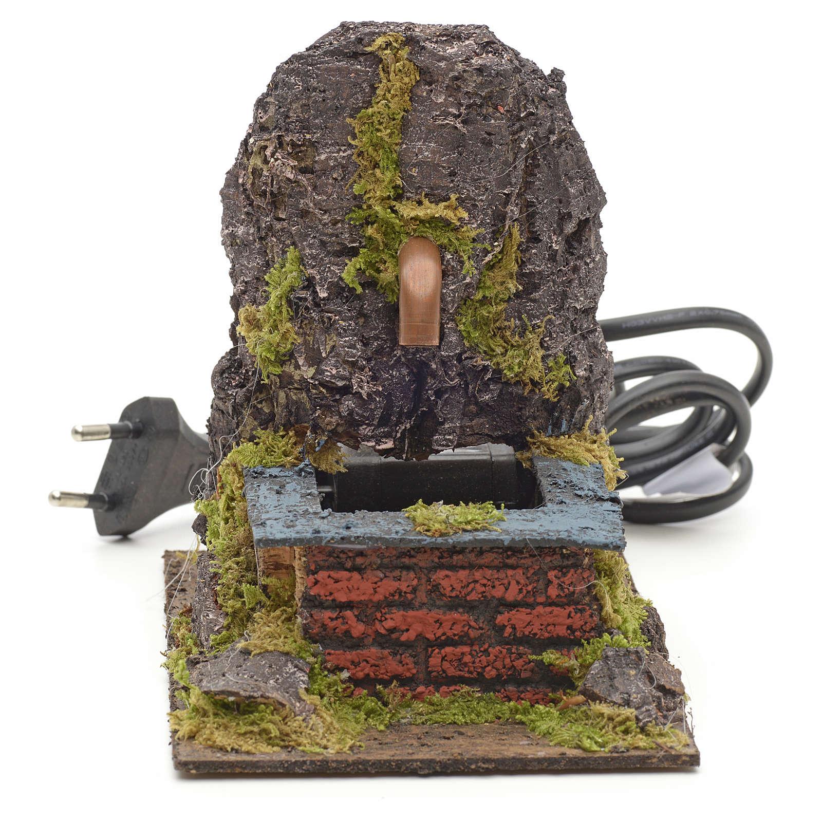 Fontanella elettrica nella roccia per presepe 4