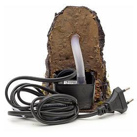 Fontanella elettrica nella roccia per presepe s3