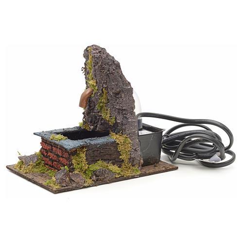 Fontanella elettrica nella roccia per presepe 2