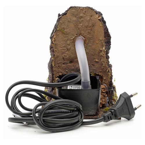Fontanella elettrica nella roccia per presepe 3