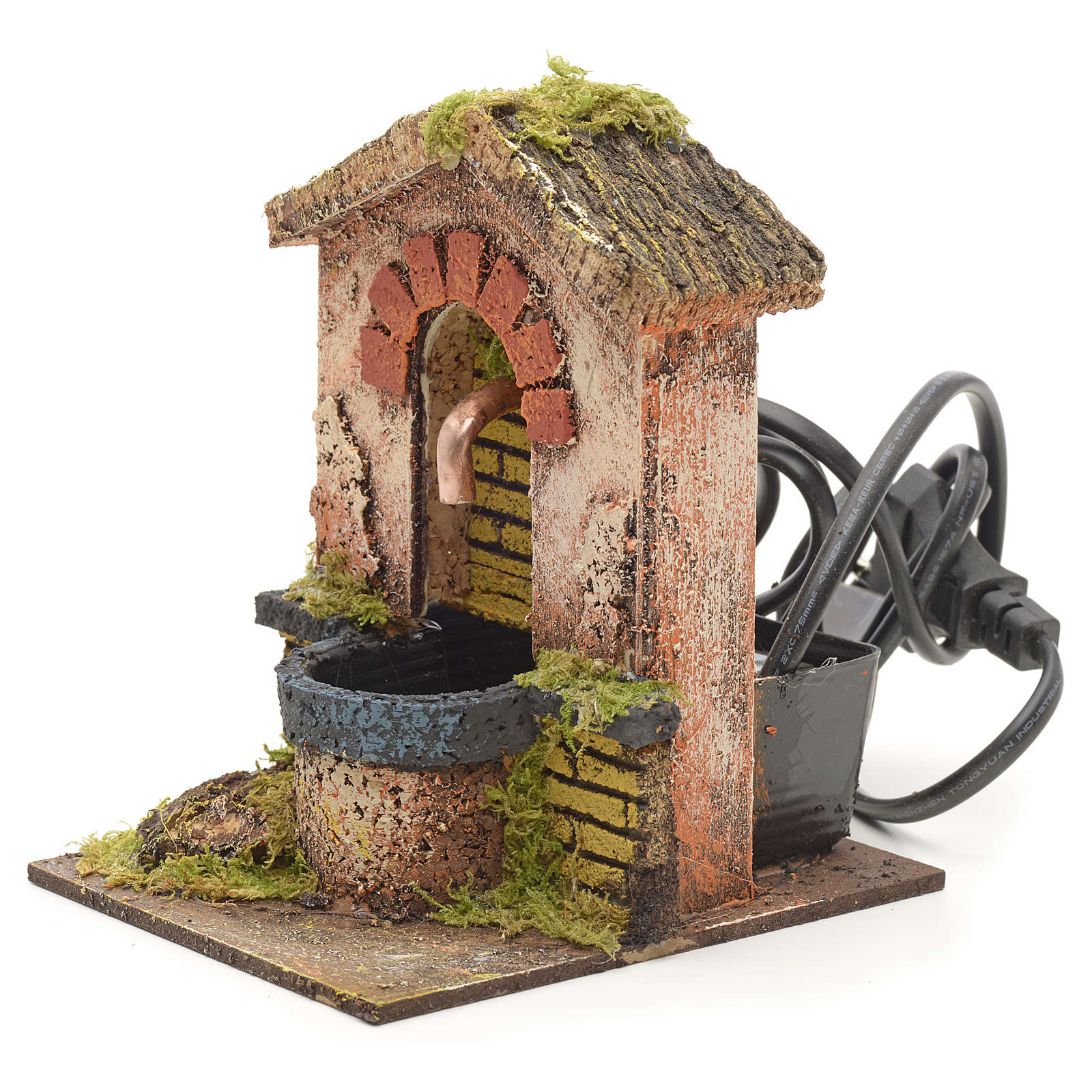 Fountain for nativities with roofing and arch 14x10x12cm 4