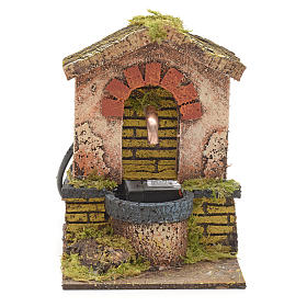 Fountain for nativities with roofing and arch 14x10x12cm s1