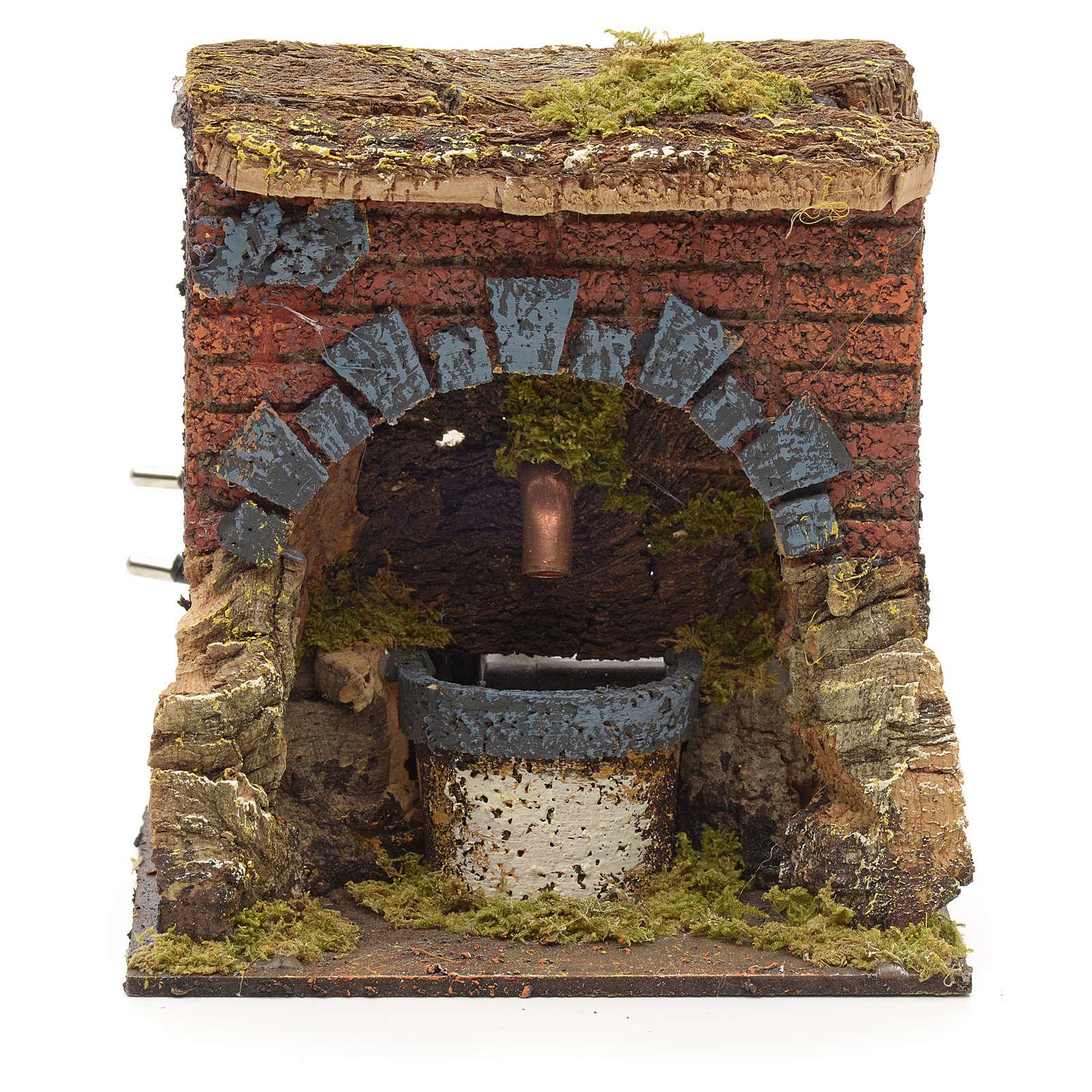 Fontaine avec arc pour crèche 15x13x12cm 4