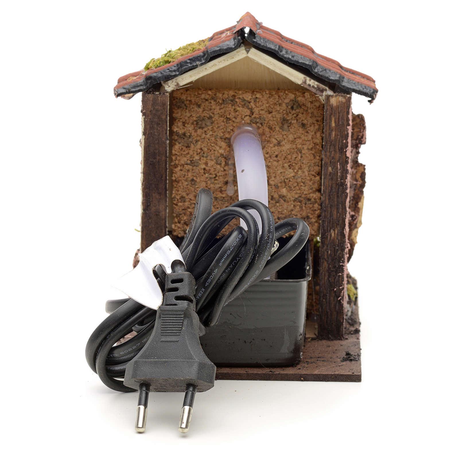 Fontanella elettrica presepe 14x10x14 cm per presepe 4