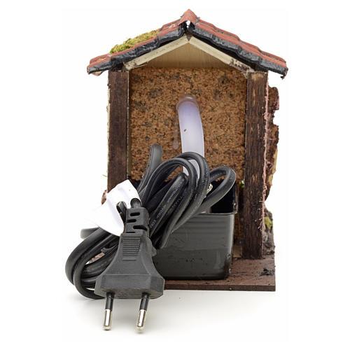 Fontanella elettrica presepe 14x10x14 cm per presepe 3