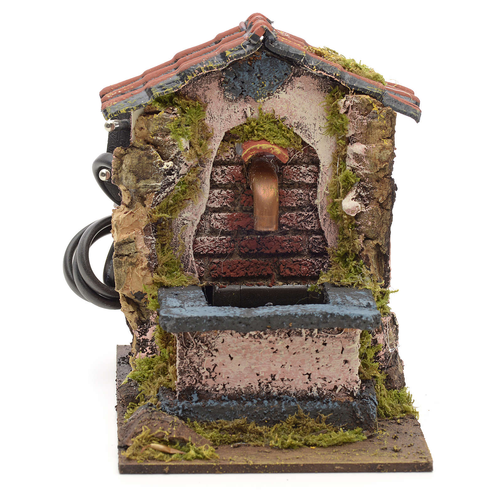 Electric fountain for nativities 14x10x14cm 4