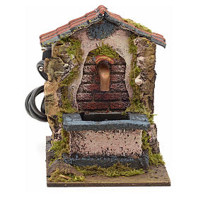 Electric fountain for nativities 14x10x14cm s1