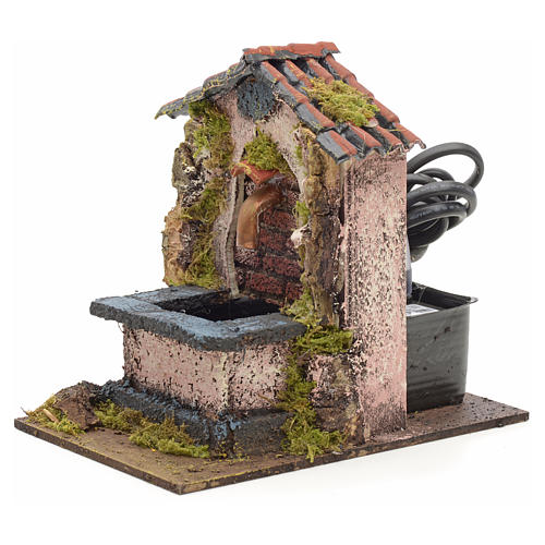 Electric fountain for nativities 14x10x14cm 2