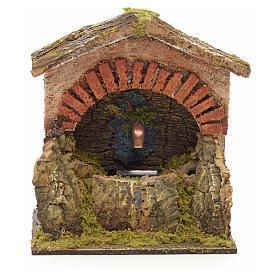 Fuente pesebre forma arco con piedra 15x13x11 s1