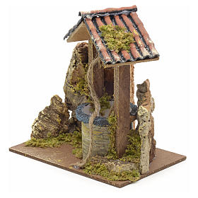 Nativity setting, well with roofing 15x10x10cm s2