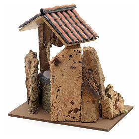 Nativity setting, well with roofing 15x10x10cm s3