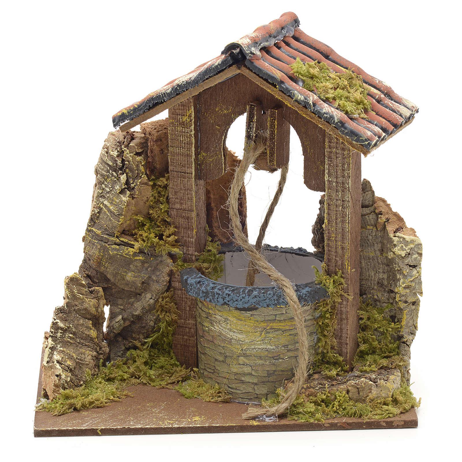 Décor crèche puits avec toit 15x10x10 4