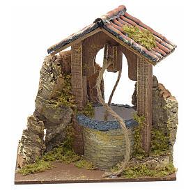 Nativity setting, well with roofing 15x10x10cm s1