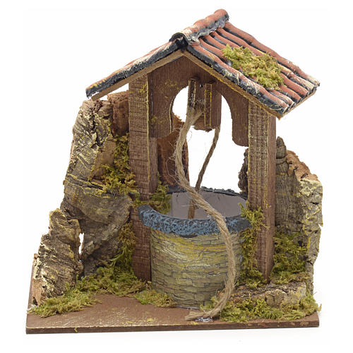 Nativity setting, well with roofing 15x10x10cm 1