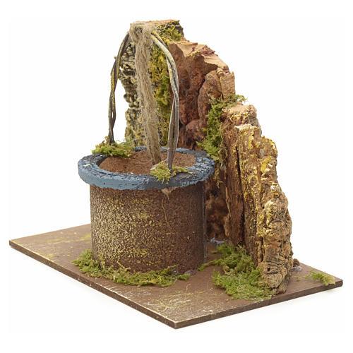 Puits en miniature pour crèche 12x15x10cm sur base 2