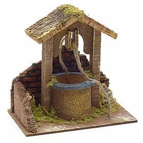 Décor crèche puits mur et toit 15x15x10 s1