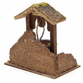Décor crèche puits mur et toit 15x15x10 s3