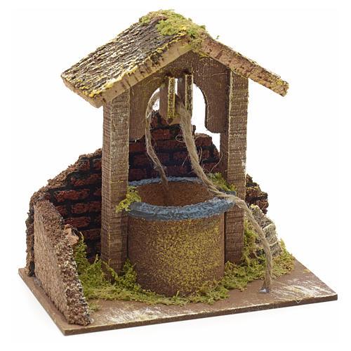 Décor crèche puits mur et toit 15x15x10 1