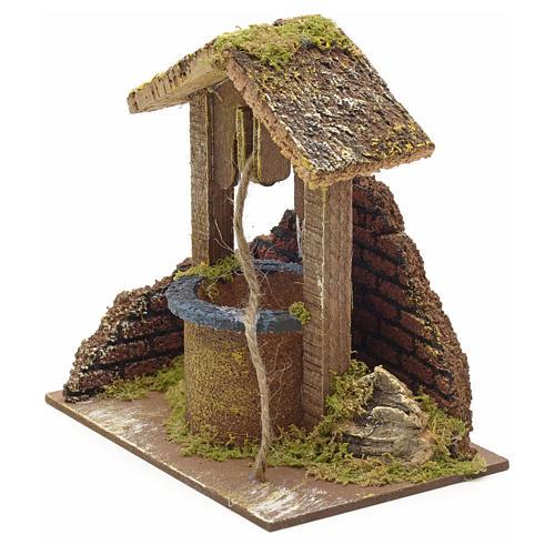 Décor crèche puits mur et toit 15x15x10 2