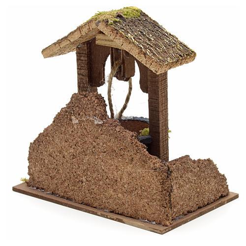 Décor crèche puits mur et toit 15x15x10 3