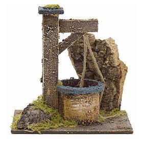 Pozo pesebre con piedras 15x15x10cm s1