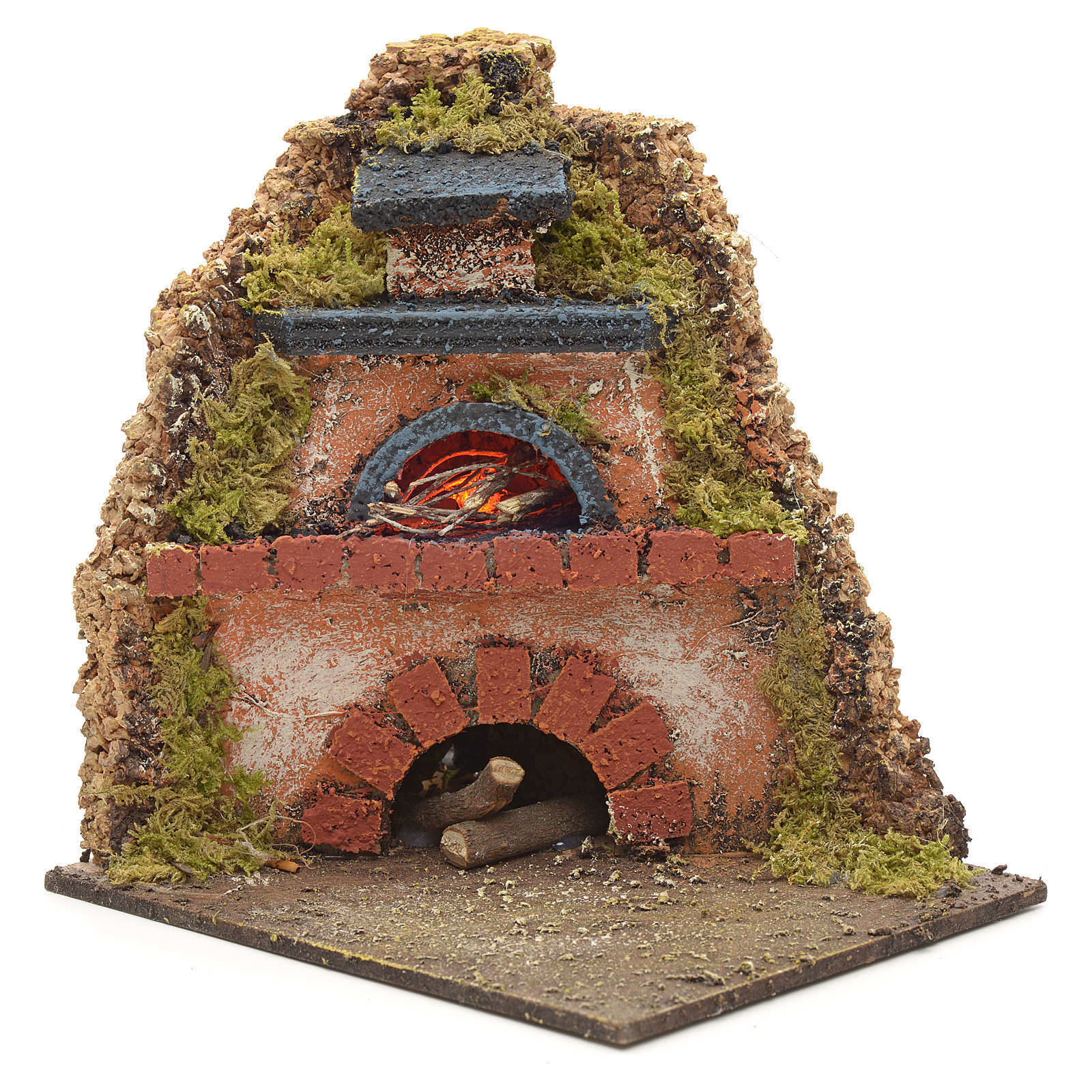 Nativity accessory, wood-fired oven for corner nativities 14x12x 4