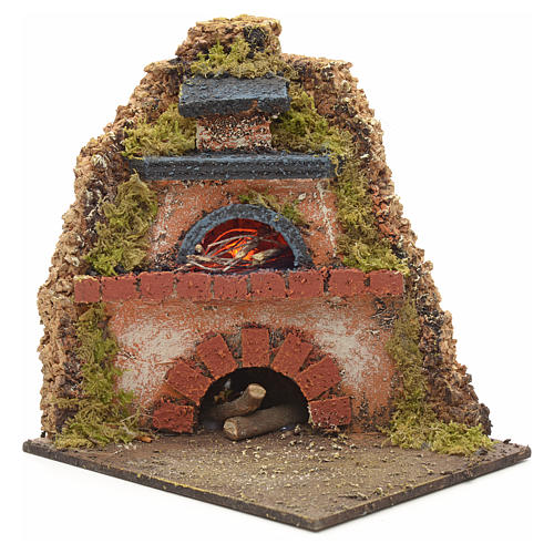 Nativity accessory, wood-fired oven for corner nativities 14x12x 1