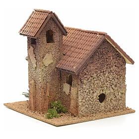 Décor crèche clocher rural 27x25x25 s4