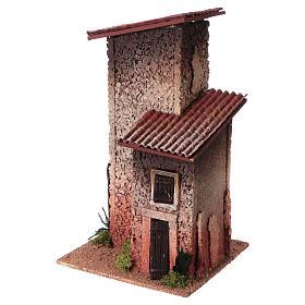 Décor crèche maison rurale double 33x18x18 s2