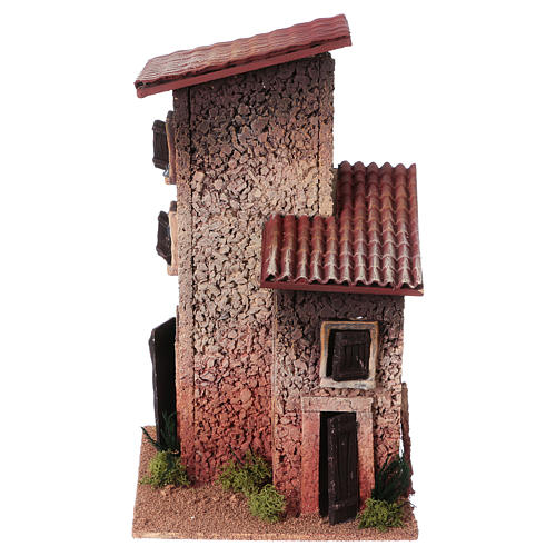 Décor crèche maison rurale double 33x18x18 1