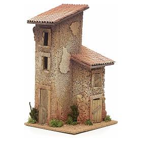 Nativity setting, double rural house 33x18x18cm s1