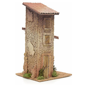 Nativity setting, double rural house 33x18x18cm s2