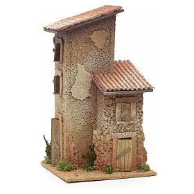 Nativity setting, double rural house 33x18x18cm s3