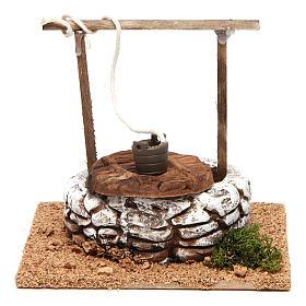 Settings, houses, workshops, wells: Nativity setting, terracotta well, Arabian style 10x12x12cm